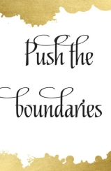 push boundaries